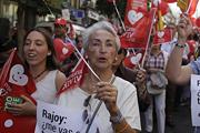 Противники абортов вышли с демонстрацией на улицы Мадрида
