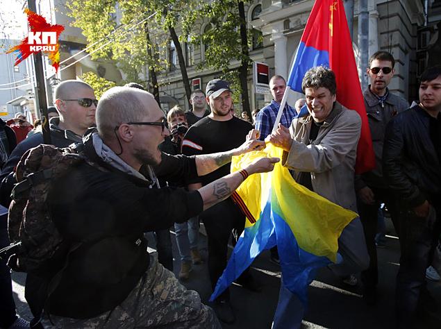 В Москве прошел оппозиционный «Марш мира»