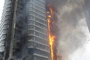 В центре Красноярска сгорел жилой дом