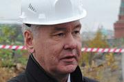 Сергей Собянин посетил строительство парка «Зарядье» в самом центре Москвы