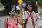 Зомби парад прошел в столице Никарагуа
