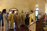 Первое Всенощное бдение в малом храме в Святой мученицы Александры