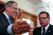 Министр иностранных дел России Сергей Лавров встретился в Москве с председателем палаты представителей генеральной ассамблеи Уругвая Анибалем Перейрой.