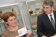 К 100-летию краеведческого музея прошла церемония гашения почтовых открыток