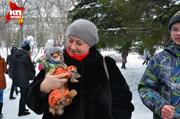 Благотворительная Фотосессия «Зимнее Сердце» в Первомайском сквере Новосибирска