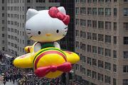 """В канун """"Дня благодарения"""" в Нью-Йорке прошёл традиционный парад гигантских надувных фигур."""