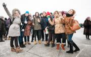 Флешмоб за «Новую Волну» В Казани