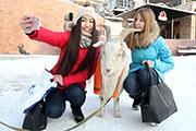 Иркутяне устроили «селфи с козлом» в центре города