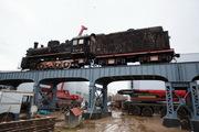 Во Всеволожск перевезли 70-тонный паровоз