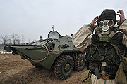 Тульские десантники провели учения по химической защите