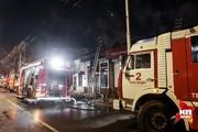 В центре Краснодара загорелись магазины и жилые постройки