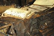Фоторепортаж из здания библиотеки ИНИОН после пожара