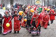 В Ярославле прошло масленичное шествие
