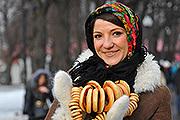 Кульминацией масленичных гуляний в столице стал праздник в Парке Горького