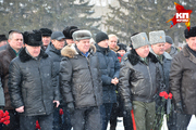 Церемония возложения венков и цветов на Мемориальном комплексе «Монумент Славы»