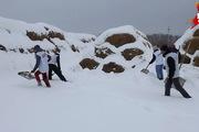 В Кузбассе волонтеры откопали конюшню после снегопада