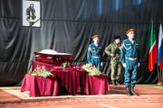 Панихида по Сергею Костину, подполковнику, погибшему, спасая людей в ТЦ «Адмирал»