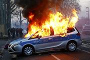 Немецкий Франкфурт охватили беспорядки