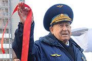 Алексей Леонов в подмосковном Красногорске торжественно открыл «Аллею космонавтов»