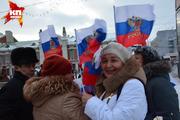 В Новосибирске прошел митинг-концерт в поддержку жителей Крыма и Севастополя