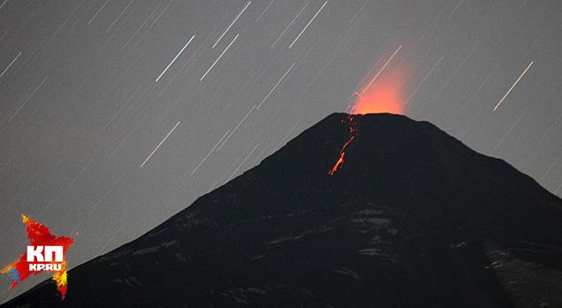 Вулкан в Чили выбросил километровый столб лавы