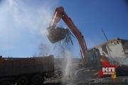 В Екатеринбурге принудительно снесли незаконно построенный многоквартирный дом