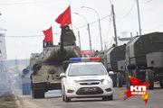 Военные провели очередную репетицию к параду