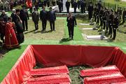 В Северском районе торжественно захоронили останки 125 советских воинов