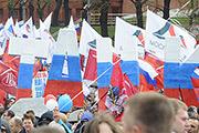 Первомайское шествие профсоюзов на Красной площади собрало 140 тысяч участников