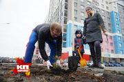 Екатеринбуржцы высадили сотни деревьев в рамках акции «Лес победы»