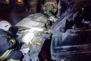 В Кузбассе иномарка сбила столб и разнесла киоск