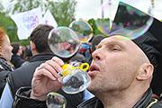На территории ВДНХ прошел Парад мыльных пузырей Dreamflash