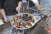 Фестиваль еды в воронежском дворе