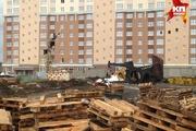 В Кемерове упал башенный кран