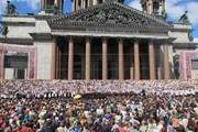 Хор из трех тысяч исполнителей на Исаакиевской площади