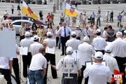 Марш духовых оркестров прошел в Краснодаре