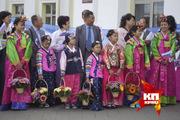 Прибытие «Евразийского поезда дружбы» с Южнокорейской делигацией