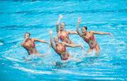 Синхронное плавание в группах ЧМ-2015 FINA (произвольная программа)