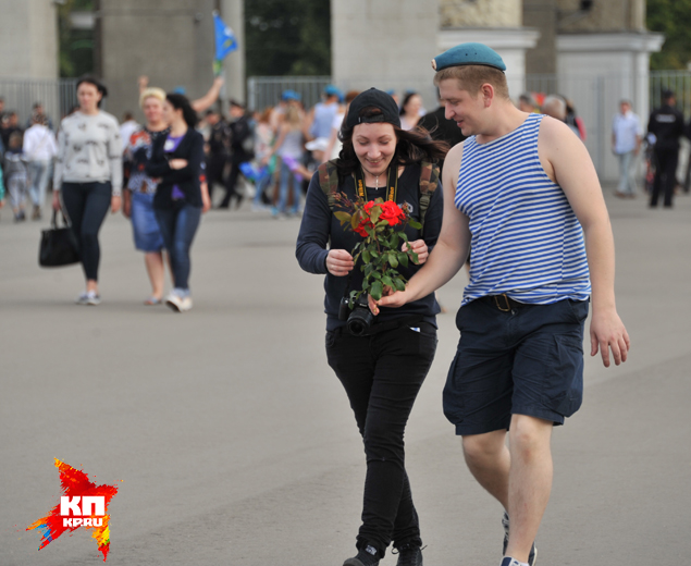 В Москве отметили День ВДВ