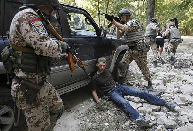 Украинские военные провели антитеррористические учения