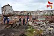 В Новосибирске обрушился этаж здания на мясокомбинате