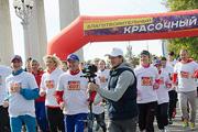 В Волгограде прошел красочный марафон с Еленой Исинбаевой