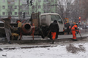 Новое слово в дорожном строительстве Владимира: укладка цемента в снегопад