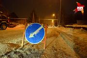 Ночная уборка снега в Новосибирске