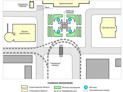 Схема привокзальной площади