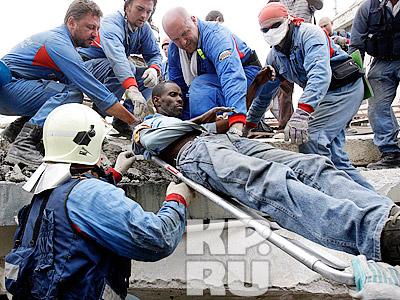 Российские спасатели за работой
