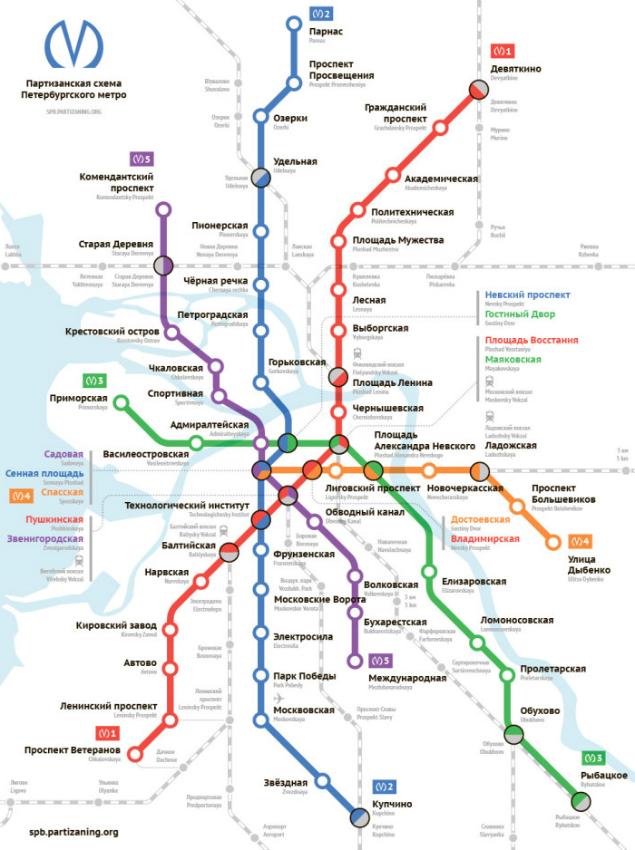 новую схему метро // SPB.