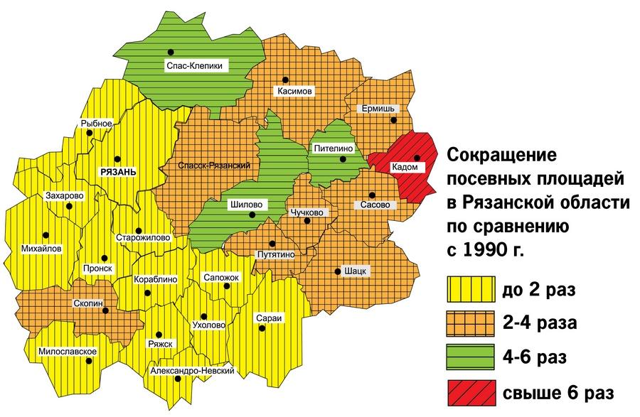 Хлеб в Рязанской области скоро выращивать будет негде?