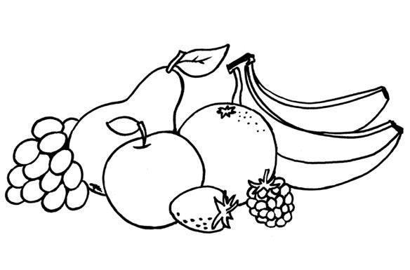 Скачать раскраску фрукты
