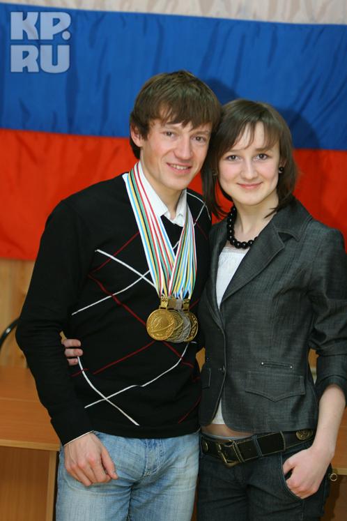 Максим с сестрой Настей